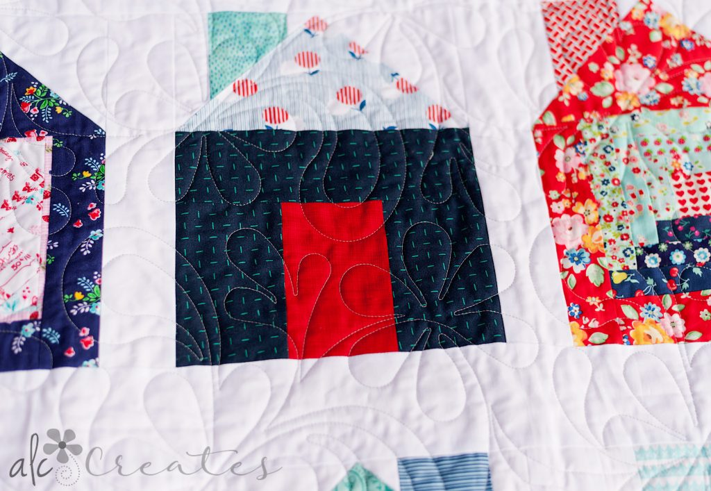 Dwell quilt finish by ALC Creates