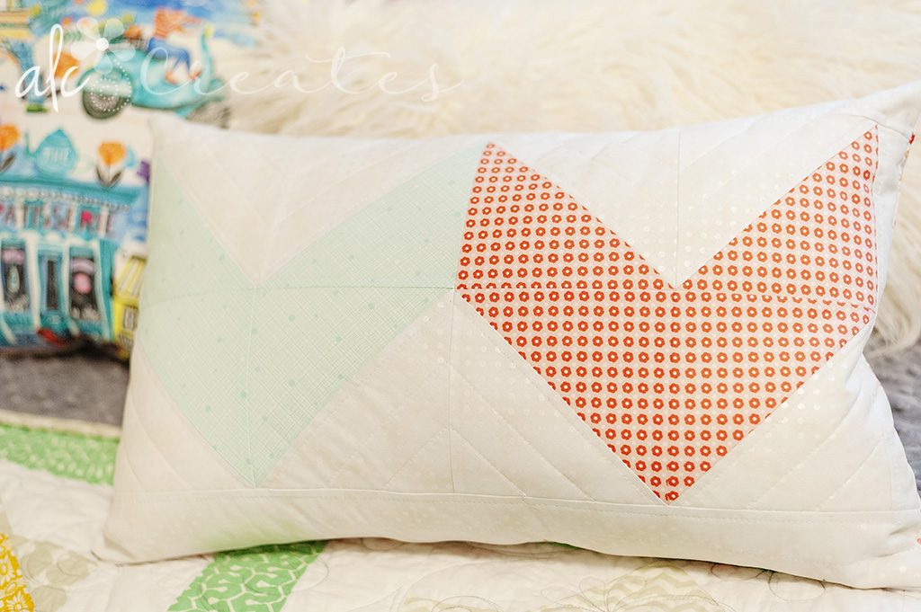Modern Aztec pillow by ALC Creates