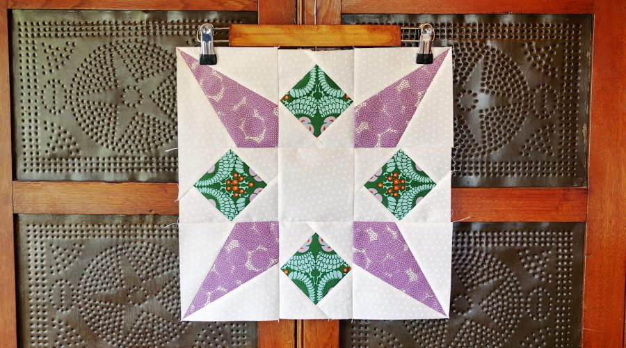 Rocket Star Quilt Block-Fat Quarter Shop Classic and Vintage Series