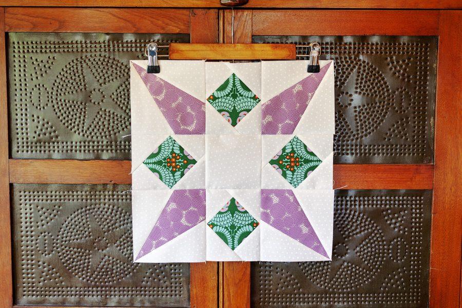 Rocket Star Quilt Block-Fat Quarter Shop Classic and Vintage Series