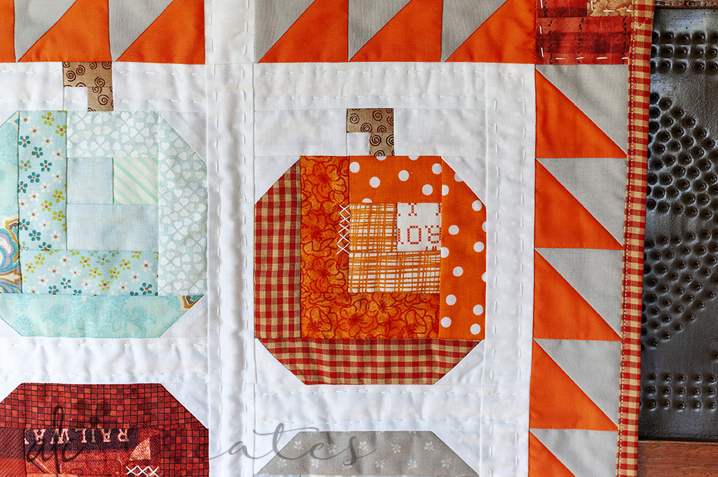 Fall Theme Pumpkins mini quilt by ALC Creates