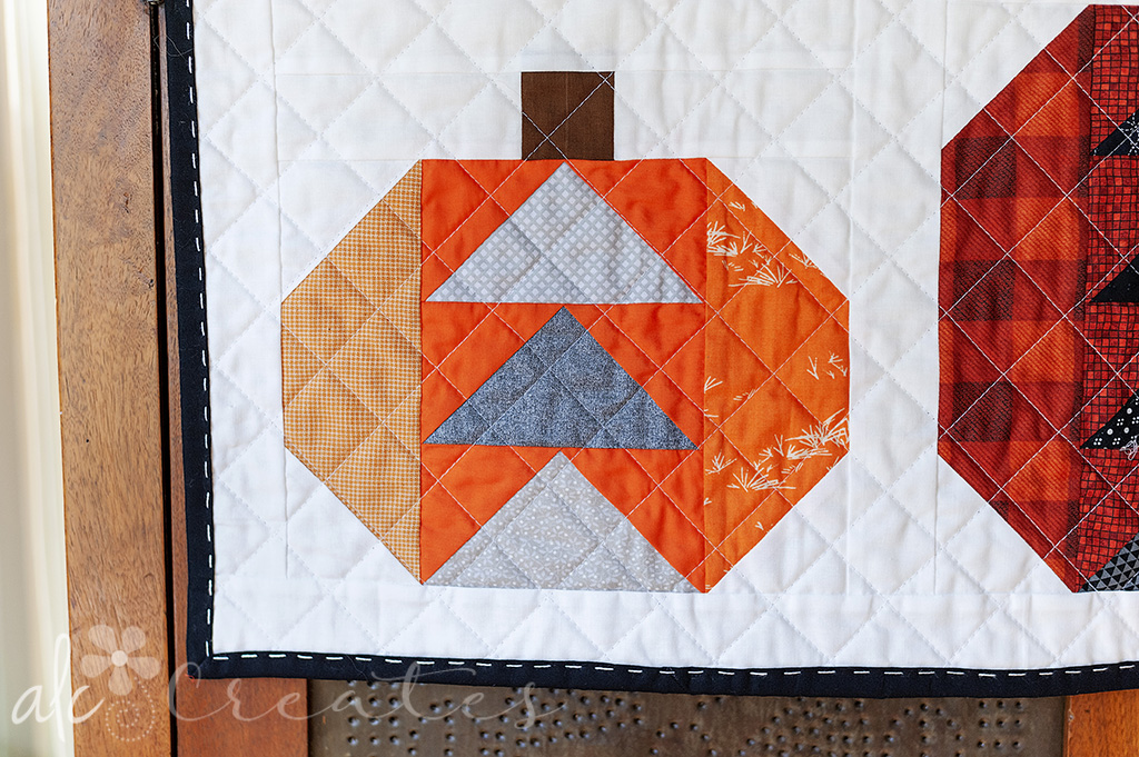 Fall pumpkins mini quilt by ALC Creates