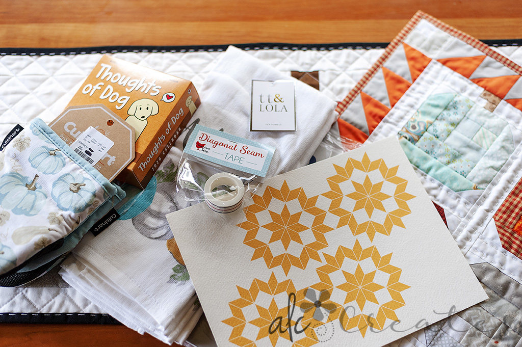 Fall theme quilters swap package by ALC Creates